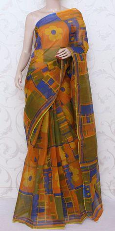 JP Kota Doria Printed Cotton Saree 12578