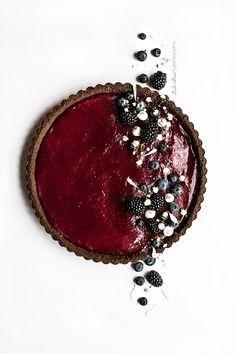 Tarta de arándanos, lima y chocolate - http://Bake-Street.com