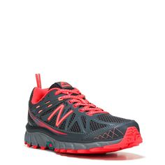 New Balance Women's 610 V4 Medium/Wide Trail Running Shoes (Grey / Fire Coral) - 10.0 D