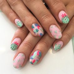 "927 Likes, 43 Comments - Trophy Wife Nail Art (@trophywifenailart) on Instagram: ""Little cactus set """
