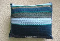 crocheted striped pillow - about crochet