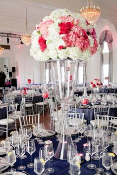 photo: Ace Cuervo Photography; Romantic Floral Wedding Centerpieces - wedding centerpiece.