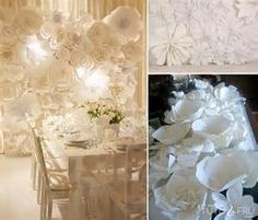 paper flower wedding - - Yahoo Image Search Results