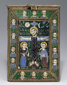 Reliquary of the True Cross (Staurotheke), late 8th–early 9th century  Byzantine; Made in Constantinople  Cloisonné enamel, silver, silver-gilt, gold, niello