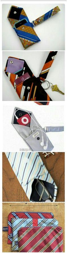 Upcycle necktie ideas