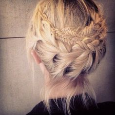 Lace braided hair