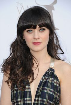 Autumn is the perfect time to switch up your hairstyle. Click here to see examples of long hair with bangs that will inspire your next haircut. . . . .   #hairstyles #hair #haircut #haircolor #hairstylist #hairstyle #Banghairstyle Curly Bangs, Long Hair With Bangs, Short Hair Cuts, Curly Hair Styles, Cool Haircuts, Hairstyles With Bangs, Straight Hairstyles, Cool Hairstyles, Zooey Deschanel Hair