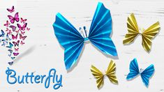 Learn how to make origami paper butterfly in simple steps. Easy paper butterfly making will bring you more DIY decor ideas to you. How To Make Origami, Origami Paper, Paper Crafts, Butterfly, Decor Ideas, Simple, Easy, Animals, Animales