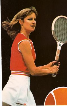 Chris Evert (b 1954) - american tennis player who achieved world number 1 status in the 70s and early 80s. She won 18 grand slam singles championships.