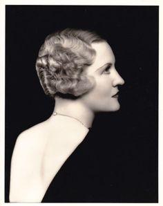 VERREE-TEASDALE-Backless-Dress-ORIGINAL-Vintage-30s-FRYER-Stamped-Portrait-Photo