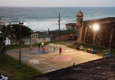 court near ocean Basketball Park, Countryside, Mountain, Ocean, Mood, Fresh, Beautiful, Modern Bunk Beds, The Ocean