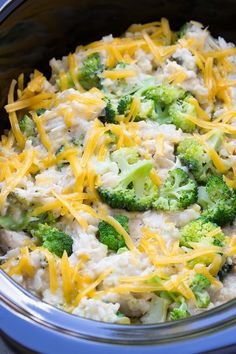Slow Cooker Chicken, Broccoli and Rice Casserolecountryliving