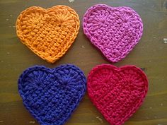 crochet hearts - interesting pattern for hearts                                                 iphone app icon,  utorrent