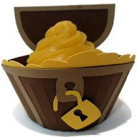 Treasure Chest Cupcake Wrappers