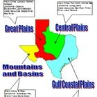 This basic poster of the Regions of Texas is editable and can be scaled to fit whatever size you need.