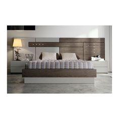 Cabecero moderno con cama bañera y 2 mesitas de noche, una composición perfecta para decorar tu dormitorio. Descubre muchas más ofertas en www.mueblesboom.com.