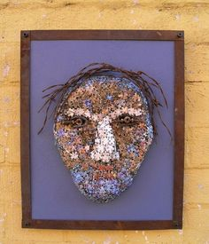 Recycled Mixed Media Art Found Object Wall Sculpture by PaulaArt, $475.00