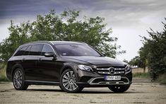 Download wallpapers 4k, Mercedes-Benz E-Class All-Terrain, wagons, 2018 cars, E-Class, Mercedes