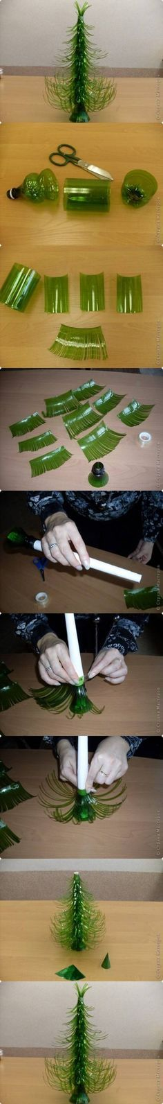 DIY Plastic Bottle Christmas Trees DIY Projects