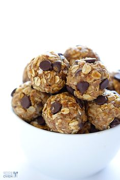 This simple and healthy little no bake energy bites recipe is perfect for a delicious snack, breakfast, or even dessert!