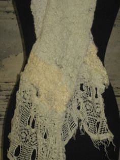 l.a.s.fibers: Nuno Felting with Vintage Lace