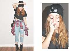 10th Tribes 10th Tribe Doll Beanie, Forever 21 Gold And Silver Studded Rings, Wet Seal Black Crop Top, Nollie Studded Flannel, Bdg Boyfriend Jeans, Target Black Wedges, Forever 21 Black And Gold Bag