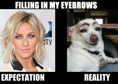Blonde eyebrows. The struggle is real.