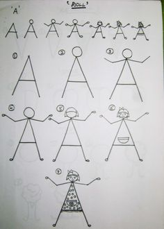 25 How to draw for kids instructions - using letters