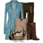 Cardigans and boots