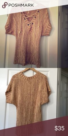 Free People Chunky Knit Sweater Size Small S Gently Preloved Free People Sweaters V-Necks