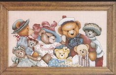 "Teddy Bears Counted Cross Stitch Janlynn Collector Kit  #89-51 Size 14"" x 8"" NIP #Janlynn"