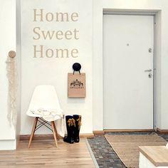 Vinilo decorativo con la frase Home sweet home. http://masquevinilo.com/con-textos/837-vinilo-decorativo-home-sweet-home-ii.html