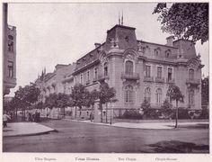 Willa Rzyszczewskich - Warszawa, ul. Chopina widziana z Al. Ujazdowskich. Przełom XIX i XX w.