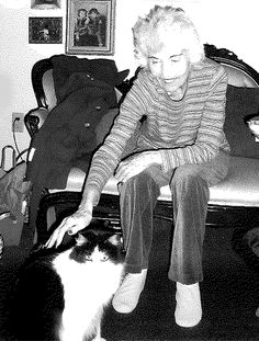 Pet-Friendly Assisted Living Resident, Kaydeene Salley, of Sunrise Senior Living at Hillcrest in Dallas, Texas, shares a moment with her cat. Remember, all Sunrise communities welcome furry friends as companions for our senior citizens.