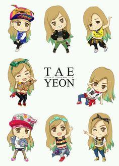 SNSD Taeyeon Cute Fanart