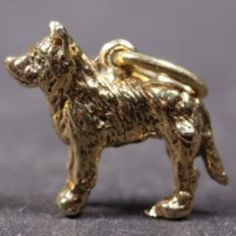 Belgian Shepherd Laekenois gold-plated CHARM