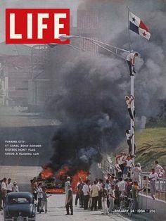 LIFE Magazine January 24, 1964 - Riots at Panama Canal Zone.  Instituto Nacional Students...my HS!!!