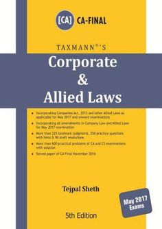 Corporate & Allied Laws May 2017 Exams