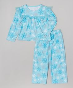 Another great find on #zulily! Blue Snowflake Pajama Set - Toddler & Girls #zulilyfinds