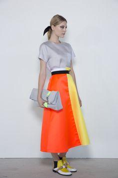 Full Tea Length Skirts - fabulous updated retro look from  Roksanda Ilincic.