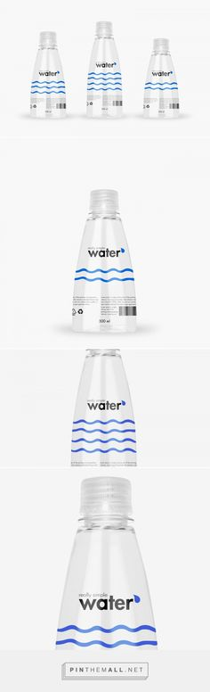 Really Simple Water packaging design by PackVisuals @ Packreate - http://www.packagingoftheworld.com/2017/03/really-simple-water.html
