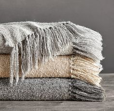 All I want for Christmas is an Alpaca Bouclé Weave Oversized Bed Throw only $379. (I get a trade discount.)