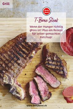 T-Bone-Steaks mit Home-Made Ketchup T Bone Steak, Steaks, Ketchup, Tricks, Homemade, Meat, Food, Barbecue Recipes, Crickets