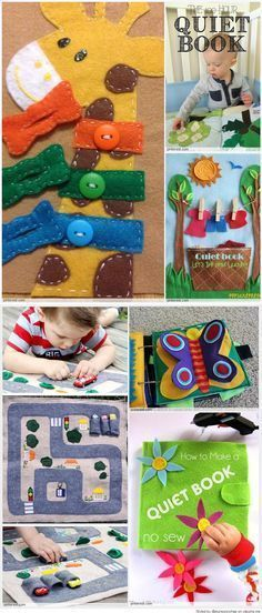 No sew quiet books books activities and sensory toys quiet book patterns ideas pronofoot35fo Gallery
