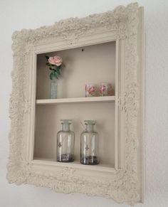 Bekijk de foto van maartjeleonie met als titel kastje gemaakt van een oude lijst en andere inspirerende plaatjes op Welke.nl.