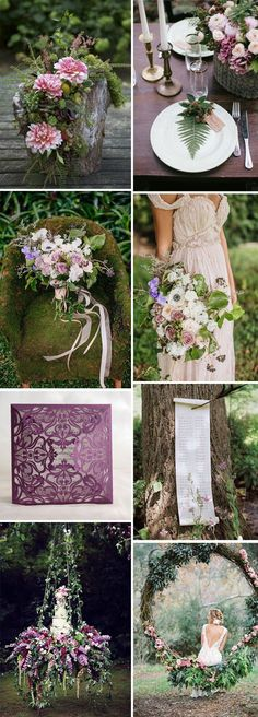 Boho Chic-whimsical woodland pink and purple wedding inspiration Whimsical Wedding, Woodland Wedding, Purple Wedding, Boho Wedding, Floral Wedding, Fall Wedding, Wedding Colors, Rustic Wedding, Wedding Flowers