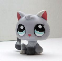 Littlest Pet Shop Kitten #1301 gray loose