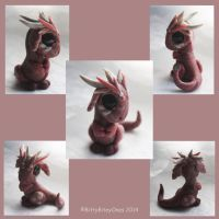 Little Pink Stone Dragon by BittyBiteyOnes