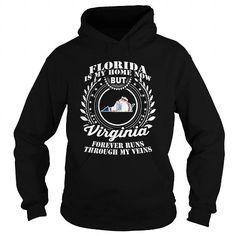 012-FLORIDA IS MY HOME NOW BUT VIRGINIA FOREVER RUNS THROUGH MY VEINS T-SHIRTS, HOODIES (38.95$ ==► Shopping Now) #012-florida #is #my #home #now #but #virginia #forever #runs #through #my #veins #shirts #tshirt #hoodie #sweatshirt #fashion #style