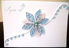 Quilling in blue and white
